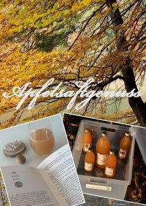 Herbst trifft Apfelsaftsaftgenuss